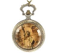 Unisexe Statue de la Liberté Motif alliage de cru de quartz analogique montre de poche