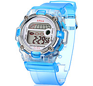 Children's Multifunctional Digital LCD Transparent Silicone Band Wrist Watch (Assorted Colors) Cool Watches Unique Watches