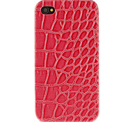 Stylish Leopard Print Pattern PU Hard Case for iPhone 4/4S (Assorted Colors)
