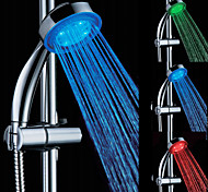 3-Color Temperature Sensitive LED Color Changing ABS Hand Shower