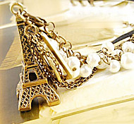 European and American jewelry Eiffel Tower Pearl Necklace N125