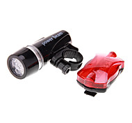 Bike Light Bike Lights / Front Bike Light / Rear Bike Light LED Waterproof 100 Lumens Battery Black Camping/Hiking/Caving / Cycling/Bike-