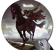 Personalized Gift Cavalier Pattern Gaming Optical Round Mouse Pad (18x18cm)