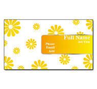 200pcs Personalized 2 Sides Printed Matte Film Flower Pattern Business Card
