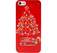 Christmas Series Brilliant Christmas Tree and Gifts Pattern Hard Case for iPhone 5/5S