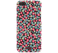 Colorful Floral Pattern Smooth Hard Case for iPhone 5C