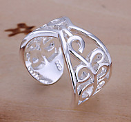(1 Pc)Sweet Women's Silver Copper Ring(size adjustable)