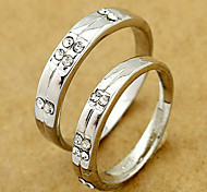 Silver Wedding Couple Ring(Random Size,A Pair)