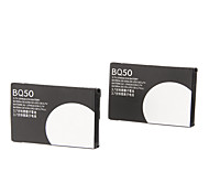 BQ50 batería para Motorola V465/W175/W230a/W375 (3.7V, 910mAh, 2 unidades)