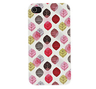 Colorful Leaves Pattern PC Hard Case for iPhone 4/4S