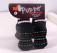 Schwarz Schöne Baumwollsocken Pet Anti-Rutsch-Socken für Hunde und Katzen Haustiere