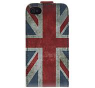 Union Jack modelo de cuero de la PU Caso Bady completa para el iPhone 4/4S