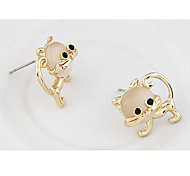 Opal Cat Stud Earrings