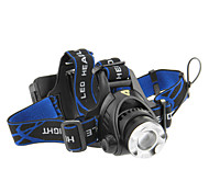 3-Mode Cree XM-L T6 LED Zoom Headlamp (1000LM, 2x18650, Black)