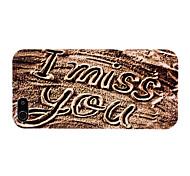 Sand-Schreiben von Ich liebe dich Muster PC Hard Case für iPhone 5/5S