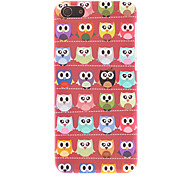 Red-soled Lovely Owls Pattern Smooth Hard Case for iPhone 5C