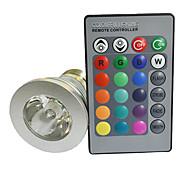 E27 3W 180lm 1-LED RGB света лампы ж / Пульт дистанционного Silver управления (Номинальное напряжение)