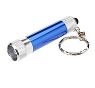 1 LED White Big Bulb Keychain Flashlight Torch (4xLR44, Black)
