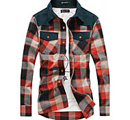 Men'S Plaids Soft Long Sleeve Shirt