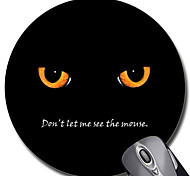 Personalized Gift Cat Patterrn Gaming Optical Round Mouse Pad (18x18cm)