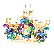 Crystal diamond crown high-grade hairpin
