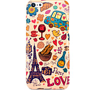Eiffel Tower & Bread Glossy TPU IMD Case for iphone 5C