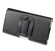PU Leather Belt Clip Pouch Case for Samsung Galaxy Mega 6.3 I9200-Black