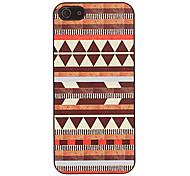 marrón triángulos patrón caso duro suave para 5/5s iphone
