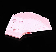 Sweet Pink Acrylic Jewelry Display Tag For Earrings (Pink)(100 Pcs)