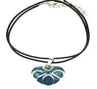 Herz-Leder-Halskette