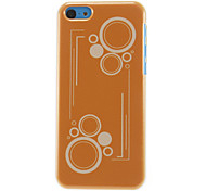 Circles Pattern Golden Yellow Hard Case for iPhone 5C