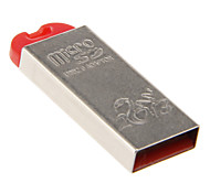 Mini Memory Card Reader USB (Silver + Red)