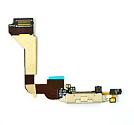 Charger Dock Port Connector Flex Ribbon Cable Replacement Parts for iPhone 4 (White)