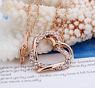 Moda (colgante corazón) oro pendiente del collar chapado en oro (1 PC)