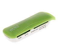 4-in-1 USB 2.0 Memory Card Reader (Pink/Orange/Green/Black)