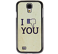 Screw You Pattern Mirror Smooth Back Hard Case with HD Screen Film 3 Pcs for Samsung Galaxy S4 I9500