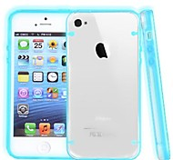 Glow In Dark Border Transparent Back Case for iPhone4/4S