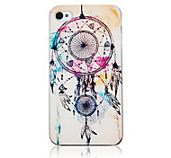 Fashion Drie Netto En Patroon Veer Transparent Frame Terug Case voor iPhone 4/4S