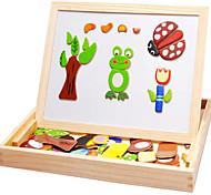 Tavolo da disegno magnetico di legno giocattolo educativo