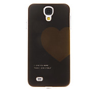 Black Ground Heart Pattern Plastic Protective Hard Back Case Cover for Samsung Galaxy S4 I9500