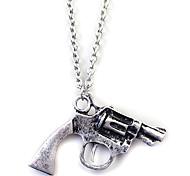 Fashion (Pistol Pendant) Silver Alloy Pendant Necklace(Silver) (1 Pc)