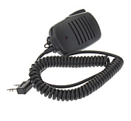 3.5mm+2.5mm Clip-on Microphone for Kenwood Walkie Talkies
