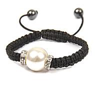 Fashion Handgewebte Bead justierbares Armband (zufällige Farbe)
