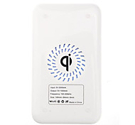 Qi Wireless Charger Bianco Pad ricarica con ricevitore oro per Samsung Galaxy Nota 2 N7100