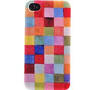 Hell-Farbige Platz Patch-Muster Transparent Frame zurück Fall für iPhone 4/4S