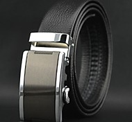 Men's Top Grade Genuine Cowskin Leather Automatic Buckle Belt