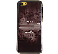 Your Life is 71% Loading Pattern PC Hard Case with 3 Packed HD Screen Protectors for iPhone 5C