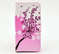 Изысканный узор Розовый цветок PU кожаный чехол с магнитной застежкой и слот для карт Samsung Galaxy S4 мини I9190