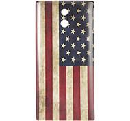Bandera nacional del estuche rígido Americana para SONY LT22i