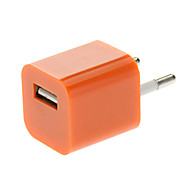 USB AC Power Charger Adapter for iPhone/iPod Dark Orange(US Plug)